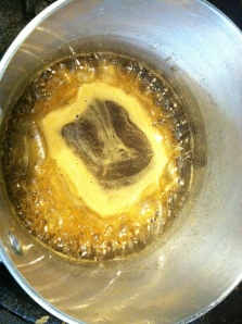 Stop stirring after mixture start to boil.